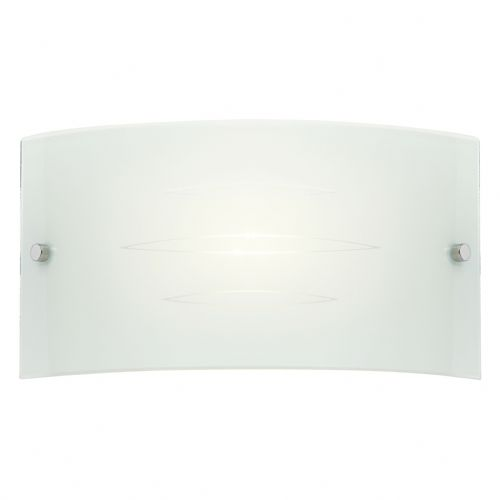 1 Light Glass Wall Bracket In White HADLEY-1WBWH